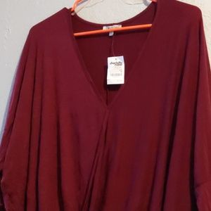 Wine red duster surplice too